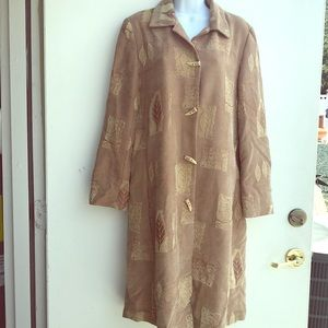 Aris A. Designer Jacket Coat Size M  beige Gold